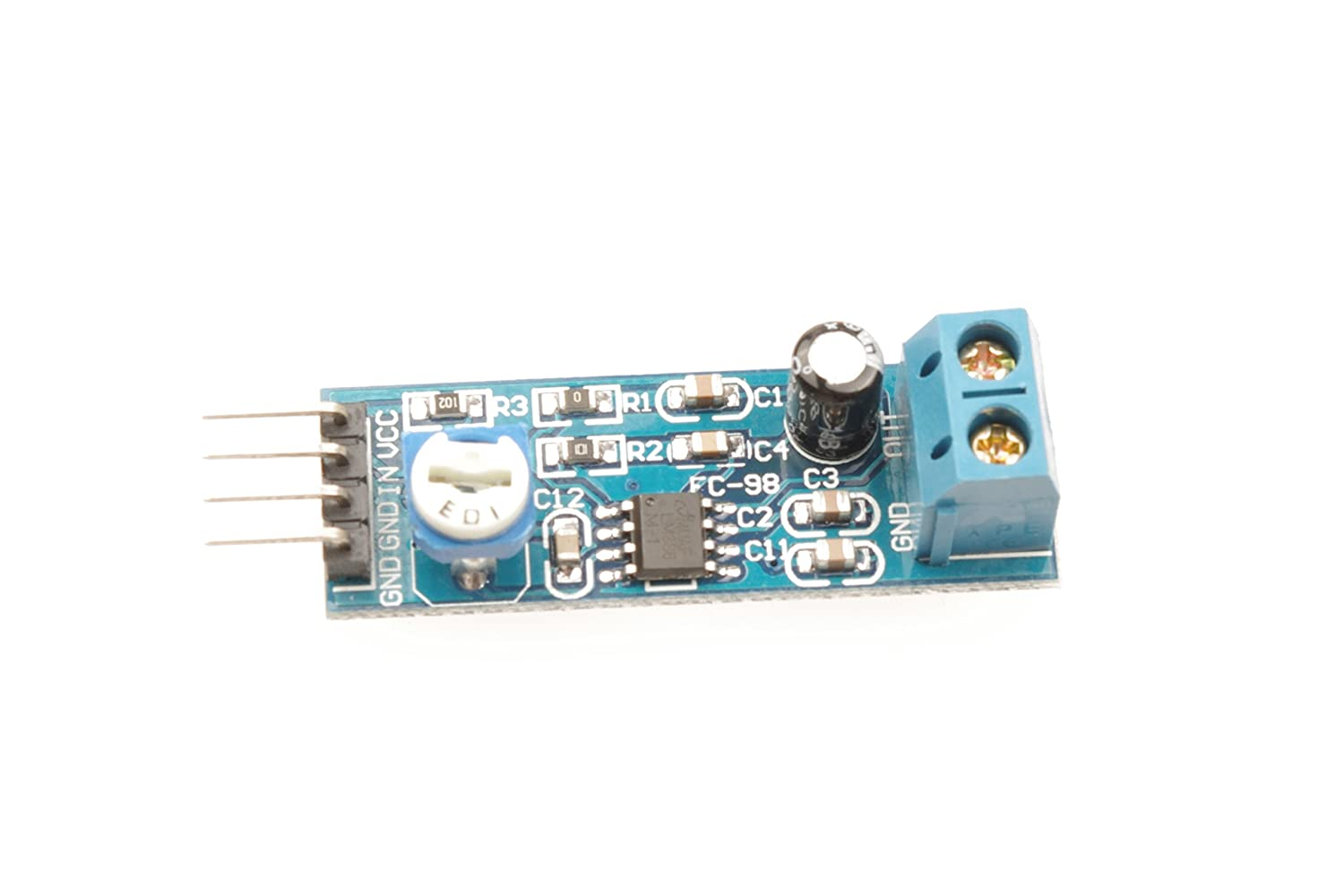 Lm386 Audio Amplifier Module 200 Times 5 12v 10k Adjustable How To Remove A 40pin Ic Dip Chip From Printed Circuit Board Resistance Car Motorbike