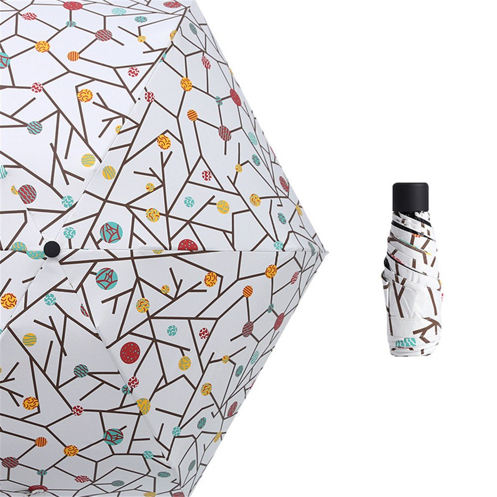 Guoke The Weather Was Fine Rain Umbrellas Use A Sunscreen Ultra Small Ultra Light Mini Light Folding Portable, Tiles - Suit by Guoke (Image #1)