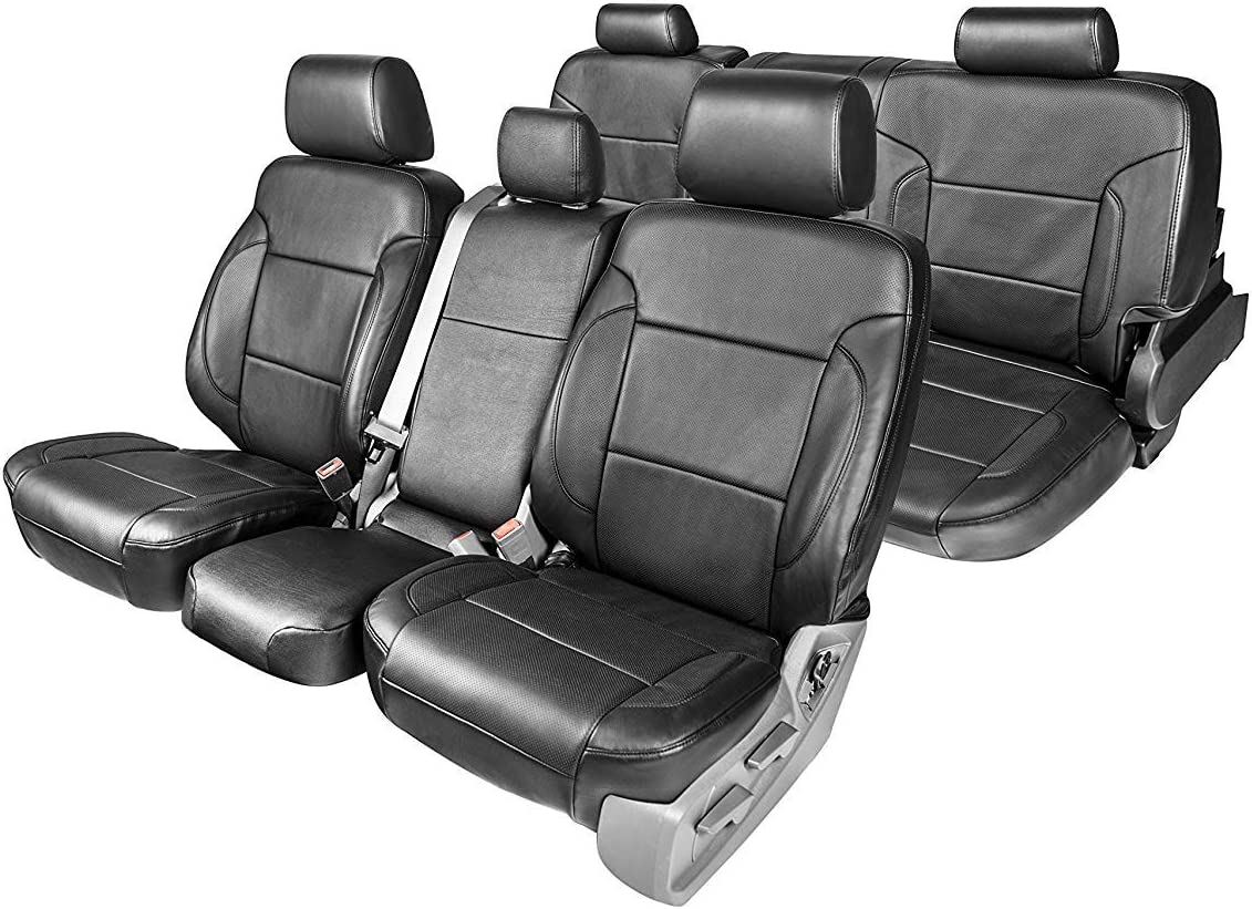 Clazzio 231111blk Black Leather Front Row Seat Cover for Toyota Prius C