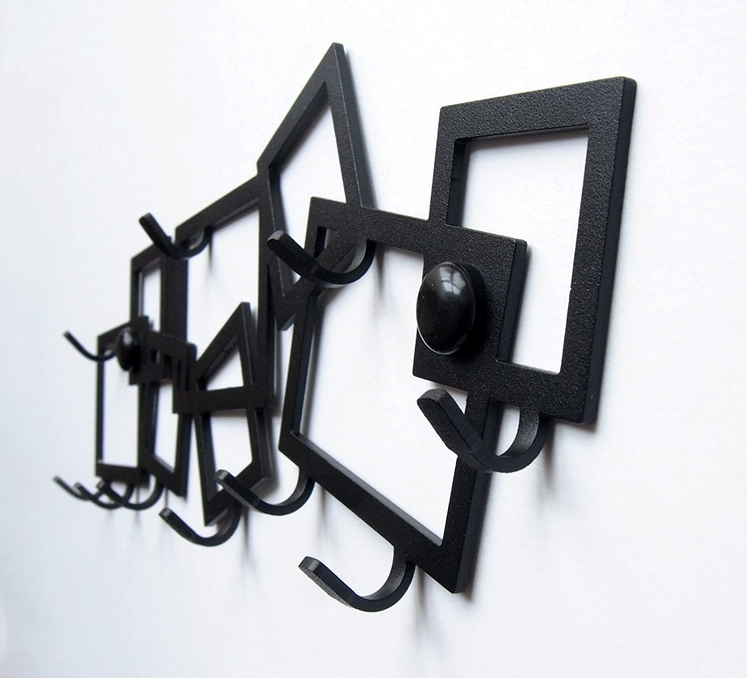 M-KeyCases Perchero Decorativo de Pared Gancho Estante para Porta Llaves Llaveros Tablero Percha Metal Colgadero Sweet Home Garaje Cocina Key Hanger ...