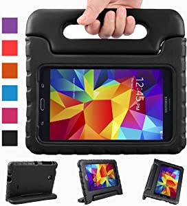 NEWSTYLE Shockproof Light Weight Kids Case with Protection Cover Handle and Stand for Samsung Galaxy Tab 4 7-inch, SM-T230, SM-T231, SM-T235 - Black (Not Fit Other Models)
