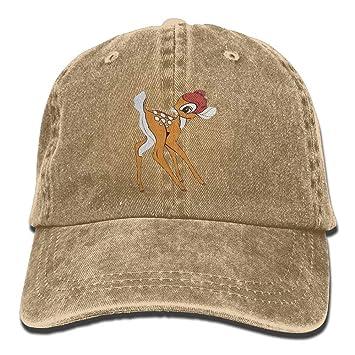 Bambi Design Casual Denim Gorra de béisbol Gorra de Pico Ajustable ...