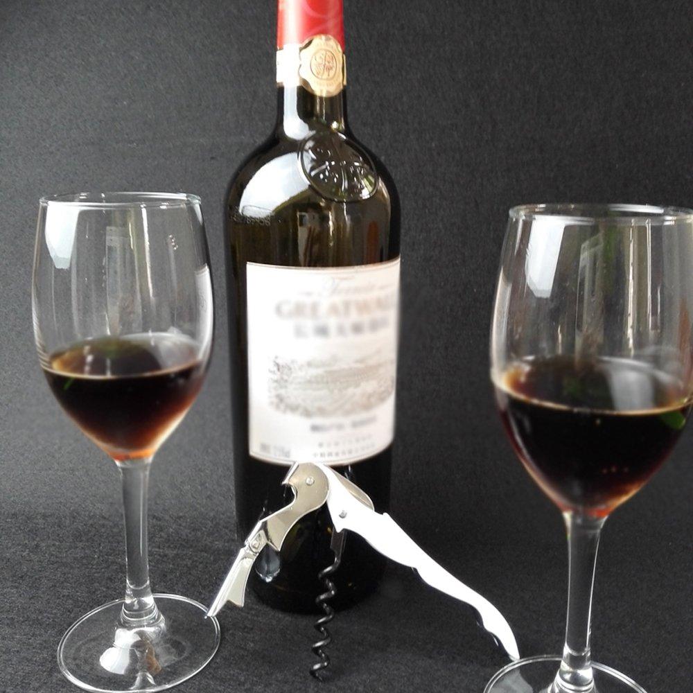 HLDTech Wine Bottle Opener Double Hinged Waiters Corkscrew White