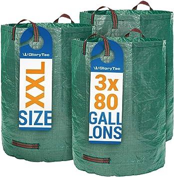 Amazon.com: GloryTec 3 bolsas de jardín de 80 galones ...