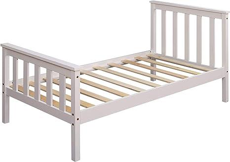KS-Furniture - Cama infantil (140 x 70 cm, madera de pino con ...