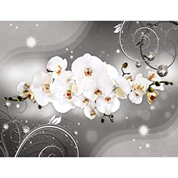 Fototapete Blumen Orchidee 396 x 280 cm Vlies Wand Tapete Wohnzimmer  Schlafzimmer Büro Flur Dekoration Wandbilder XXL Moderne Wanddeko - 100%  MADE IN ...