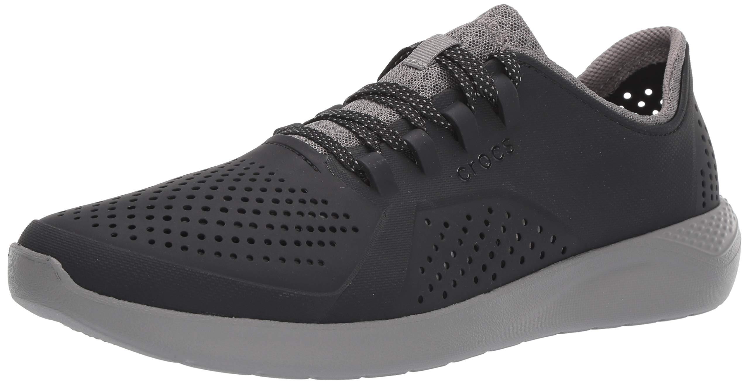 Crocs Men's LiteRide Pacer Sneaker, Black/Smoke, 11 M US by Crocs