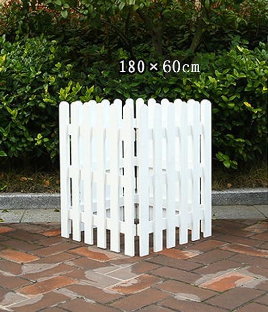 ZENGAI Cerca De Madera Maciza Bastidores De Flores Blanco Jardín Barandilla De Mascotas Corte Al Aire Libre Puesto De Exhibición Del Patio Varias Especificaciones Jardinería: Amazon.es: Jardín