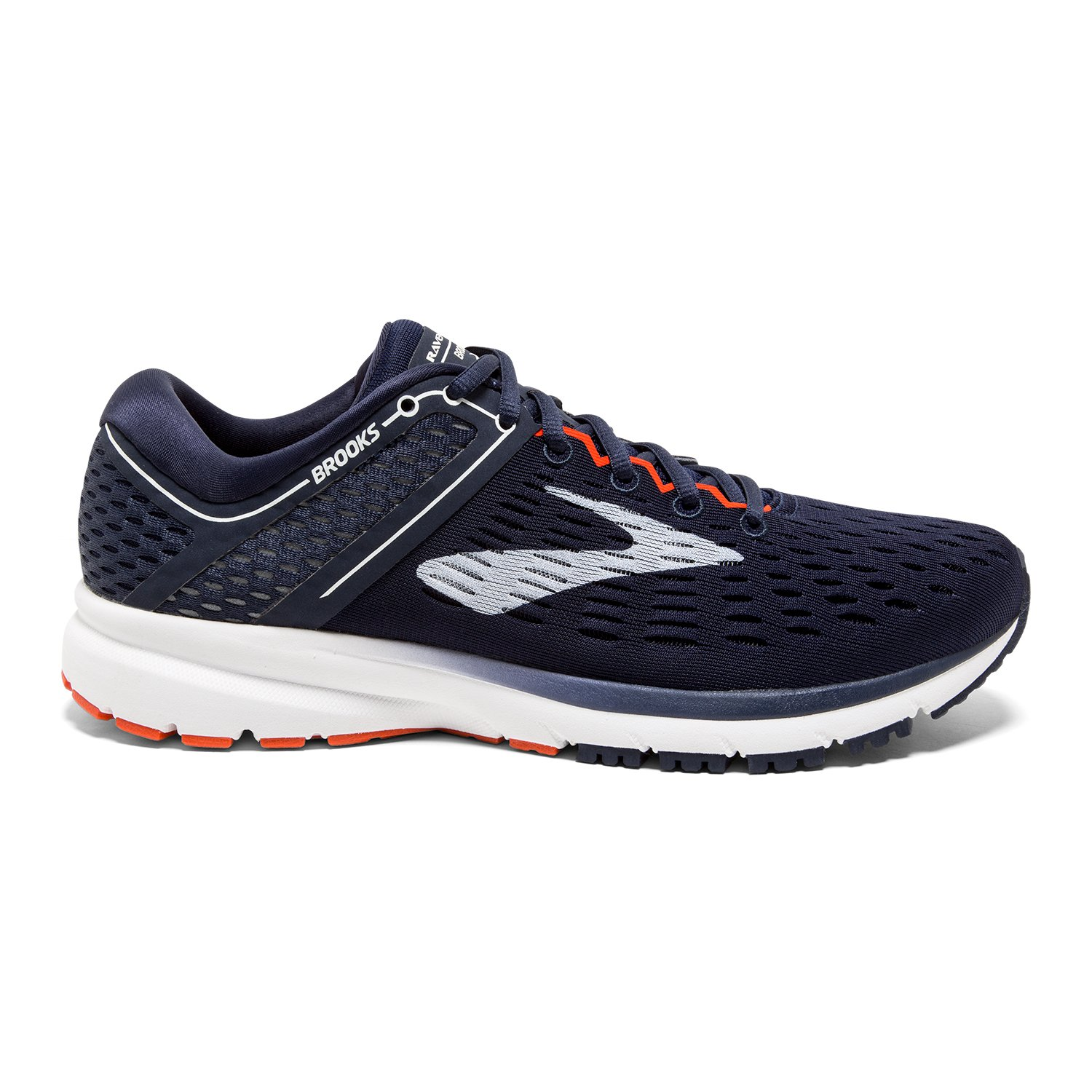 Navy White orange Brooks Men's Ravenna 9 Running shoes