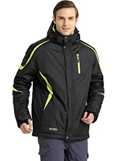 Krumba Mens Sportswear Outdoor Waterproof Windproof Hooded Warm Ski Jacket