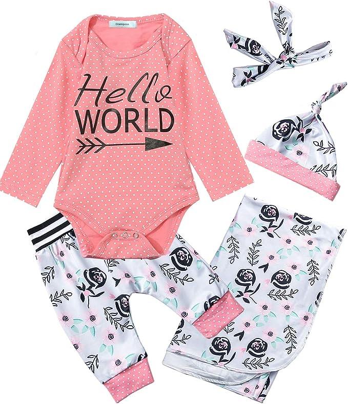 Newborn Baby Girl Hello World