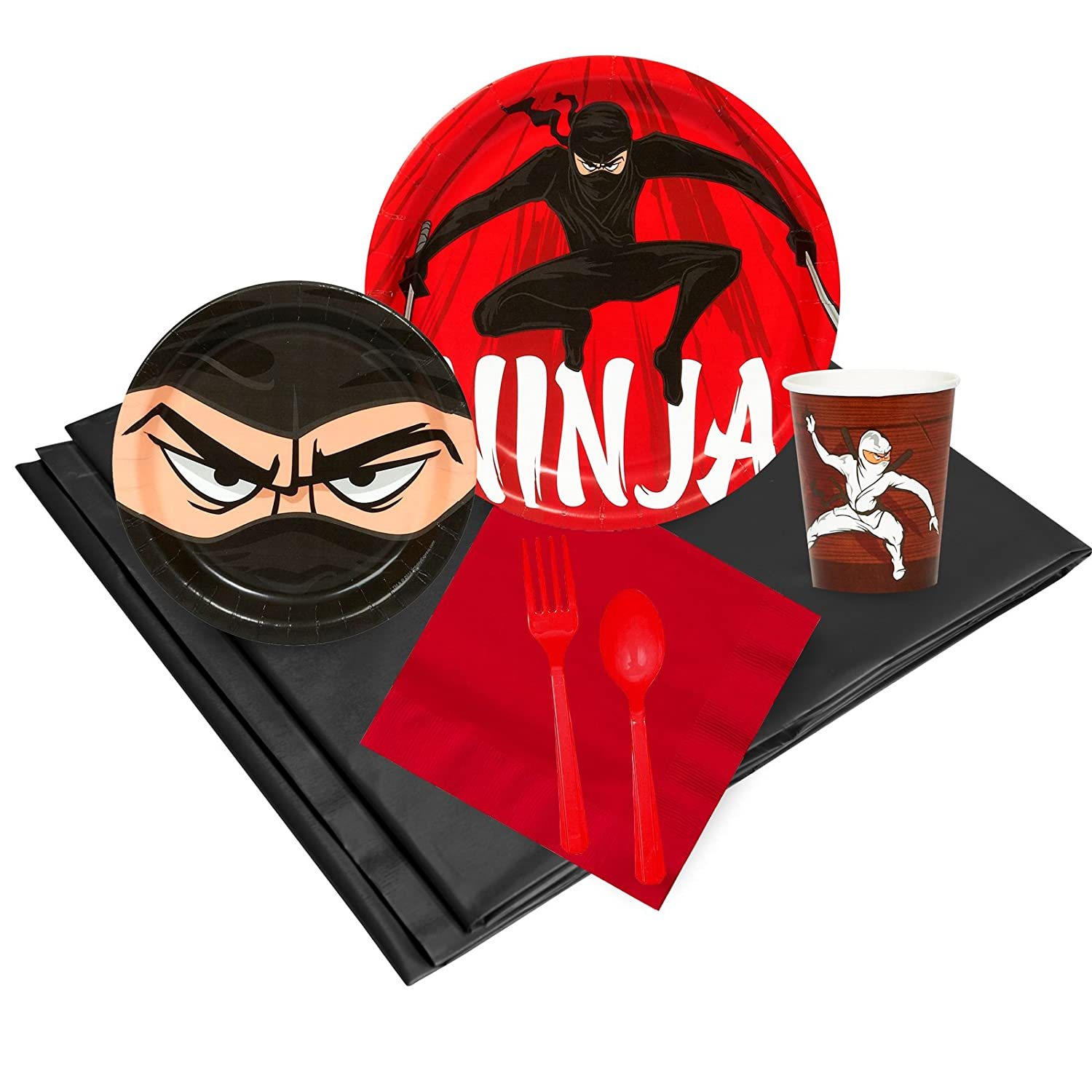 Ninja Warrior Party Childrens Birthday Party Supplies - Tableware Party Pack (24)