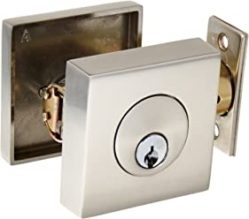 Emtek 8469 Satin Nickel Deadbolt Emtek 8469 Square