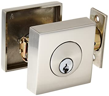 emtek satin nickel deadbolt emtek square - Deadbolts