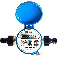 Diamond – Compteur d'eau débit maison et jardin, connecteurs 1,5 m3/h - eau froide