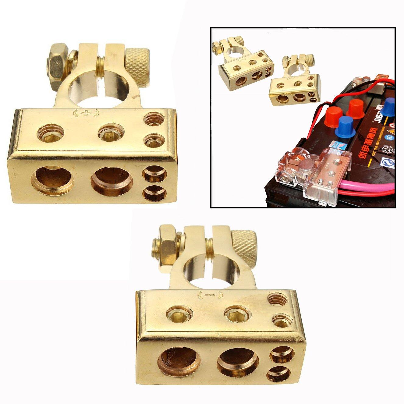 AERZETIX 2x Terminales para bater/ía de coche auto veh/ículos C4439