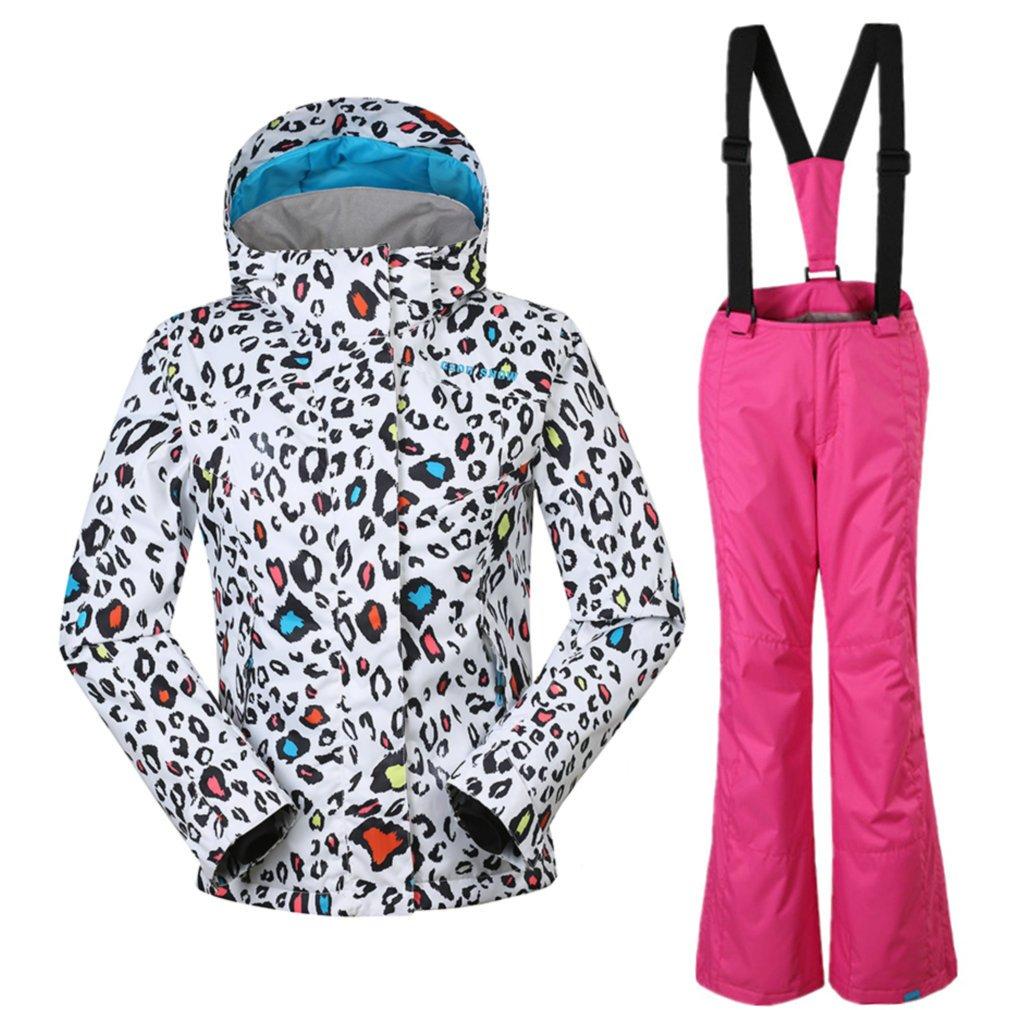 APTRO Girls Ski Suit Kids Snowboarding Windproof Waterproof Jacket and Pants 531 Pink XS