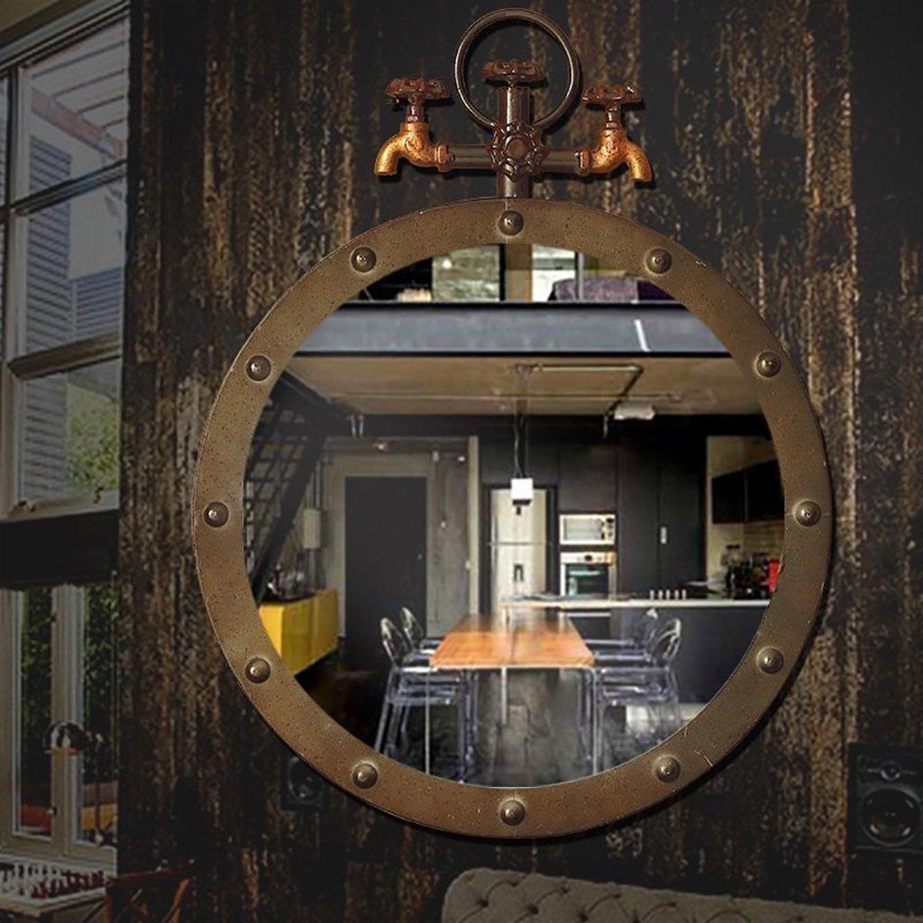 CAIJUN Maquillage Miroir Salle de bain rétro-moulée avec miroir de maquillage Robinet de vent industriel Miroir