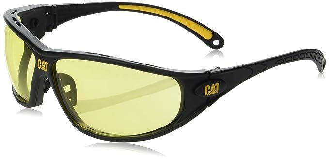 a70b6196758f CAT TREAD yellow lens safety glasses  Amazon.co.uk  DIY   Tools