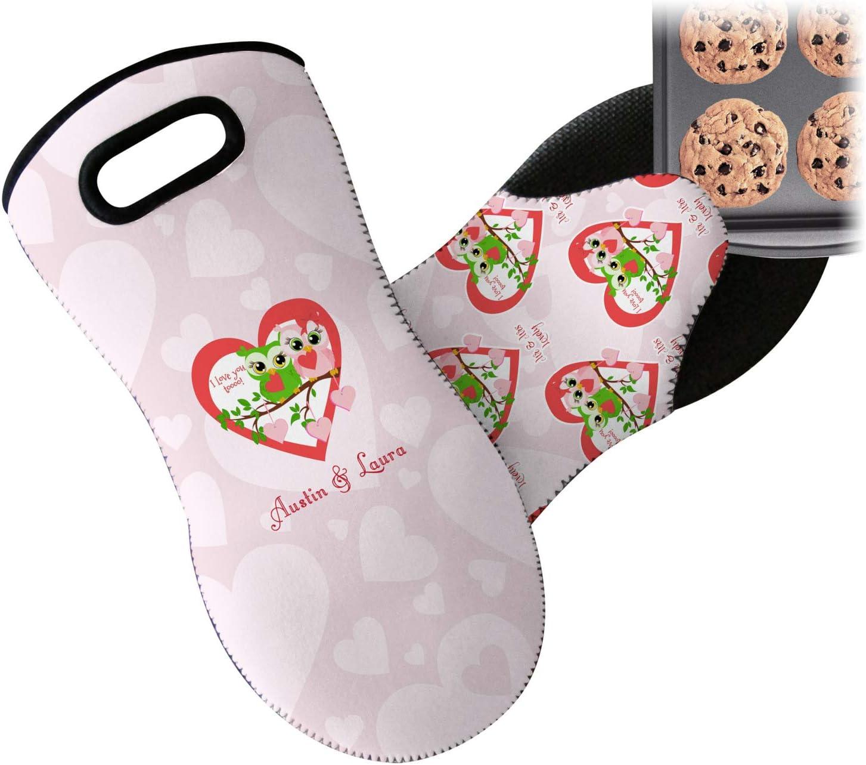 YouCustomizeIt Valentine Owls Neoprene Oven Mitt (Personalized)