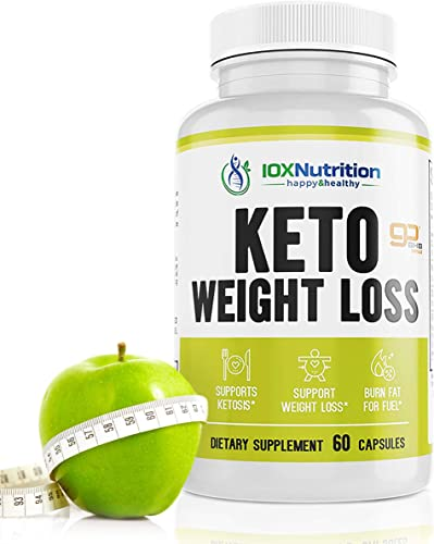 Keto Pills – Supports Keto Burn – Fast Ketosis Diet for Men and Women – Slim Formula with Advanced Keto Pill Capsules – Boost Keto Energy and Metabolism – Pure BHB Keto Pills – 60 Capsules