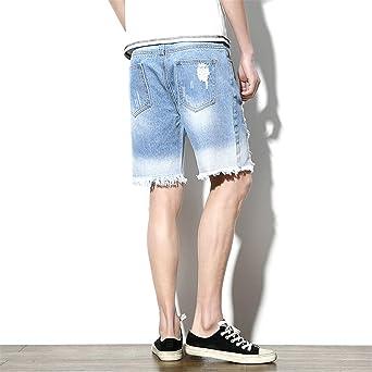 b349a6f6930 Zcaosma Men s Hole Short Jeans 2018 Summer New Fashion Classic Denim Shorts   Amazon.ca  Clothing   Accessories