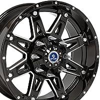 20x9 Sinister 4Play Wheels Fit 6-Lug Ford Trucks and SUVs - Black w/Mach'd Face Rims - SET