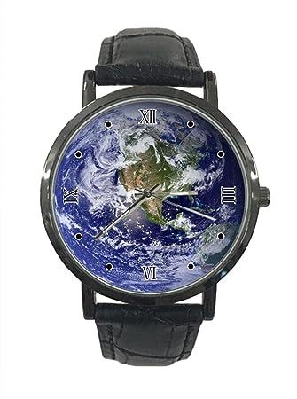 jkfgweeryhrt - Reloj de Pulsera Analógico de Cuarzo con Diseño de Planeta Tierra