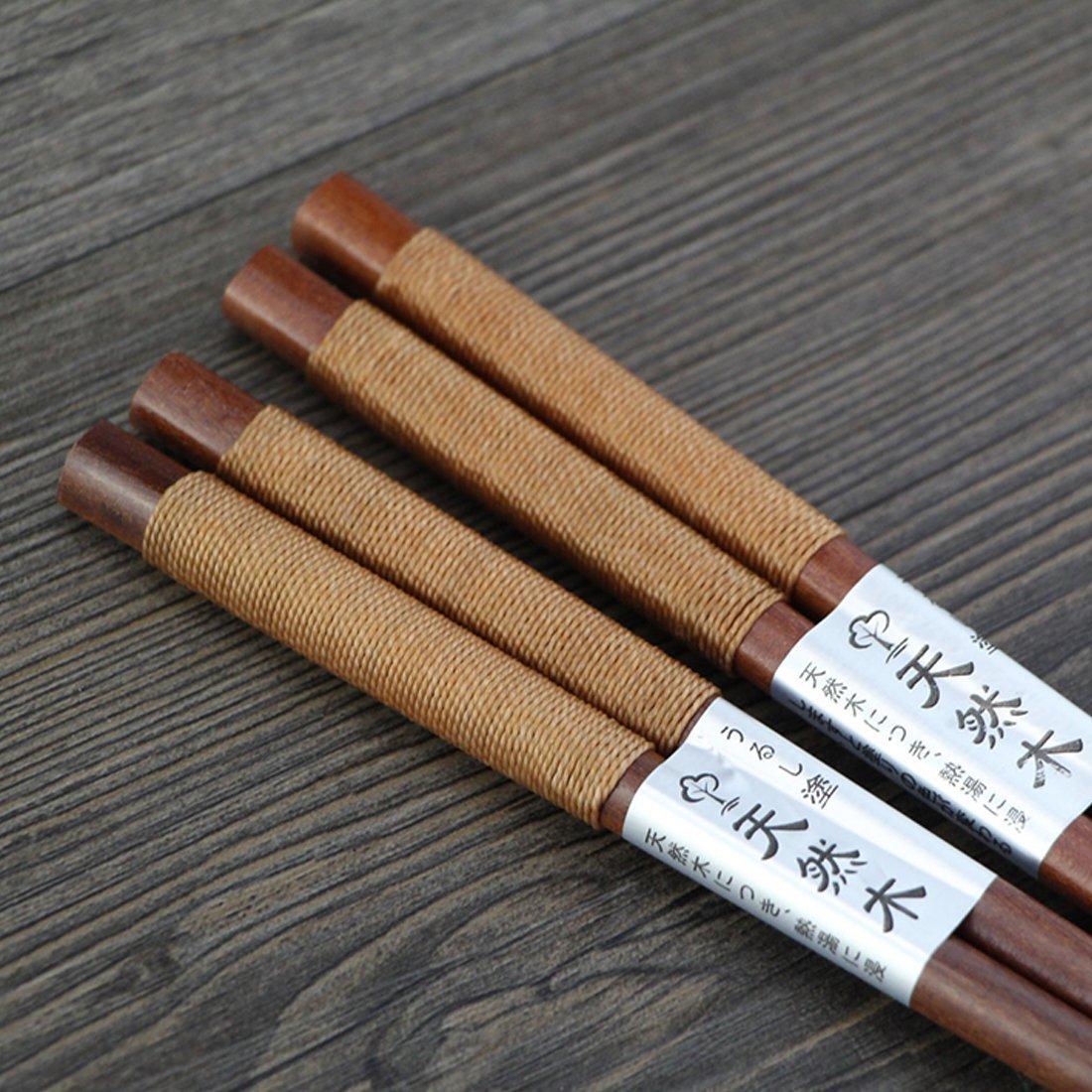 Japanisches nat/ürliches Eisen-Holz Vorteilspack Schwarz Kochgeschirr 1 Paar C Luwu-Store Essst/äbchen