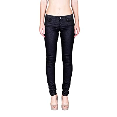 VIRGIN ONLY Women's Skinny Pants with Wave Print at Women's Clothing store