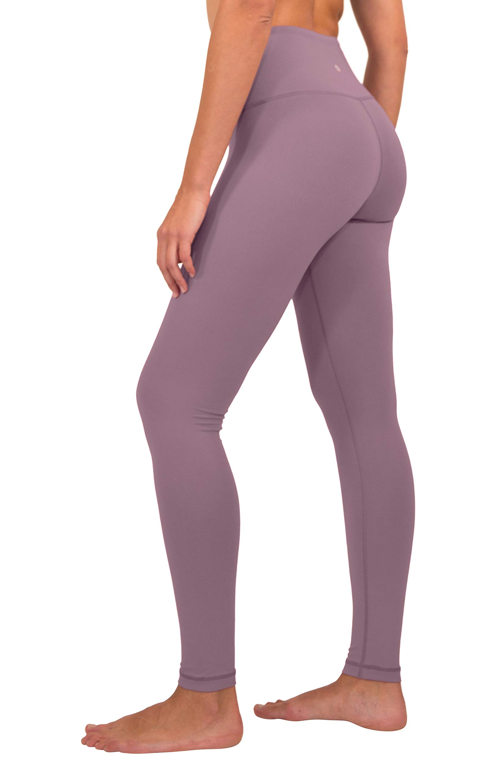 90 Degree By Reflex - High Waist Power Flex Legging – Tummy Control - Chocolate Plum - Small by 90 Degree By Reflex (Image #2)