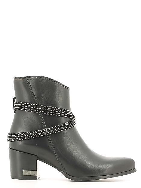 Guess FLPIA3LEA09 Botines Tobilleros Mujer Cuero Negro 36: Amazon.es: Zapatos y complementos