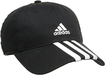adidas Essentials 3S - Gorra Negro Blanco/Negro Talla:OSFM: Amazon ...