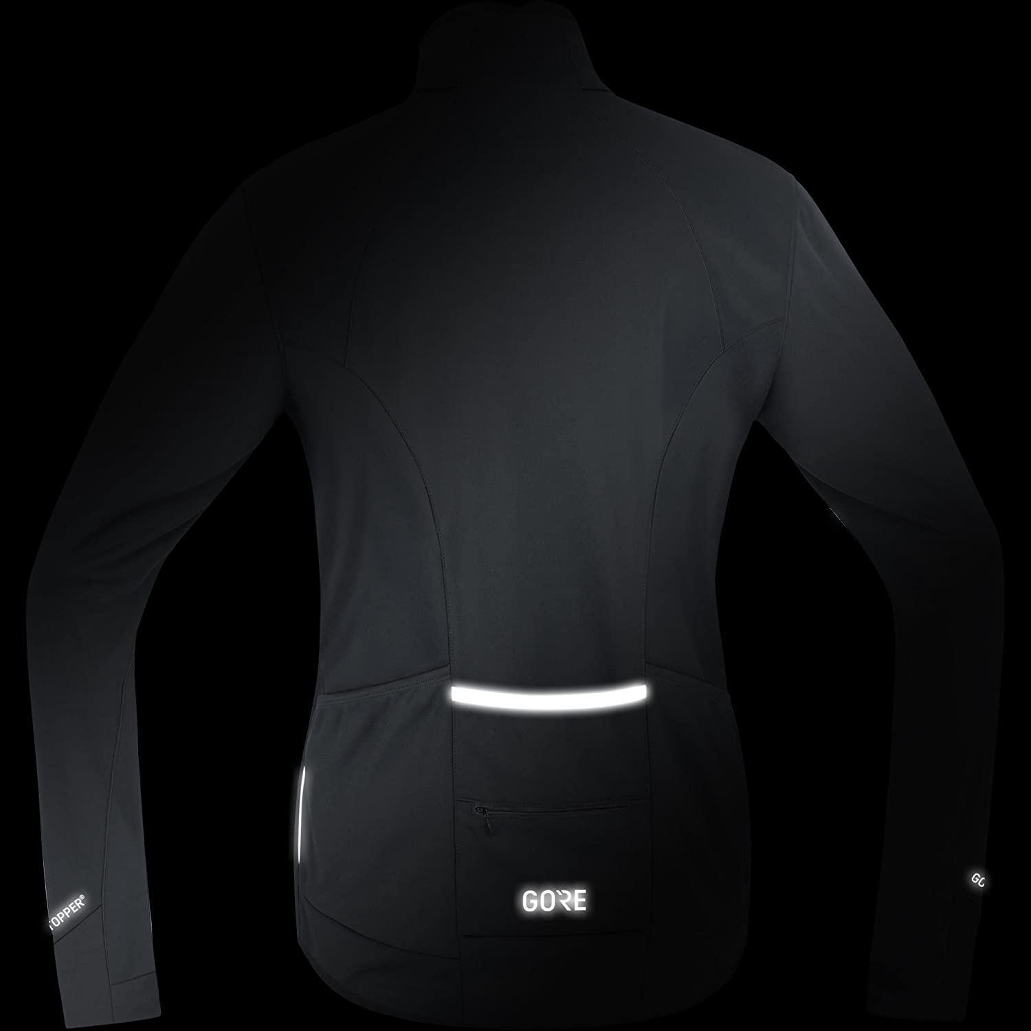 Black//Red Medium Gore Wear Mens Windstopper Thermo Cycling Jacket