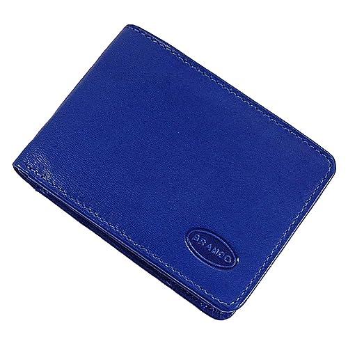 ffe55f5d67742 Branco kleine Leder Herren Geldbörse Geldbeutel Portemonnaie Minibörse  10x7x1cm (Blau)  Amazon.de  Schuhe   Handtaschen