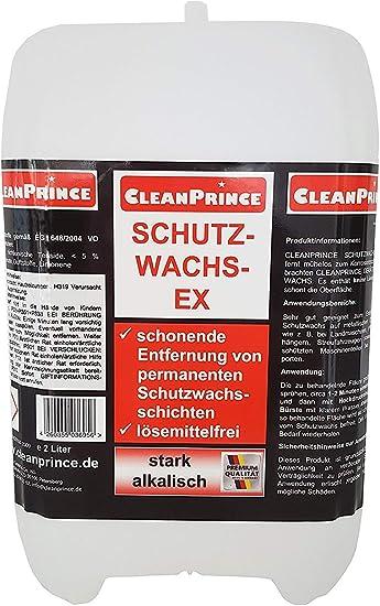 Cleanprince 2 Liter Schutzwachs Ex Entferner Löser Wachslöser Schutzwachslöser Schutzwachsex Schutzwachsentferner Reiniger Korrosionsschutz Landmaschinen Und Geräte Drogerie Körperpflege