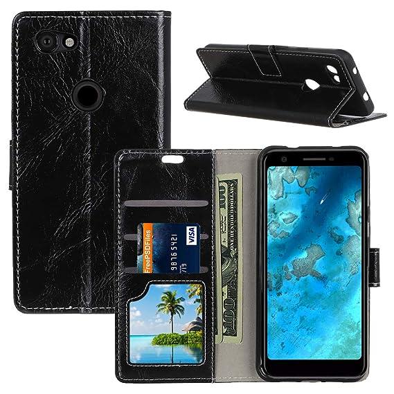 detailed look fc611 1e0ed Amazon.com: Qoosea for Google Pixel 3a Wallet Case Premium PU ...