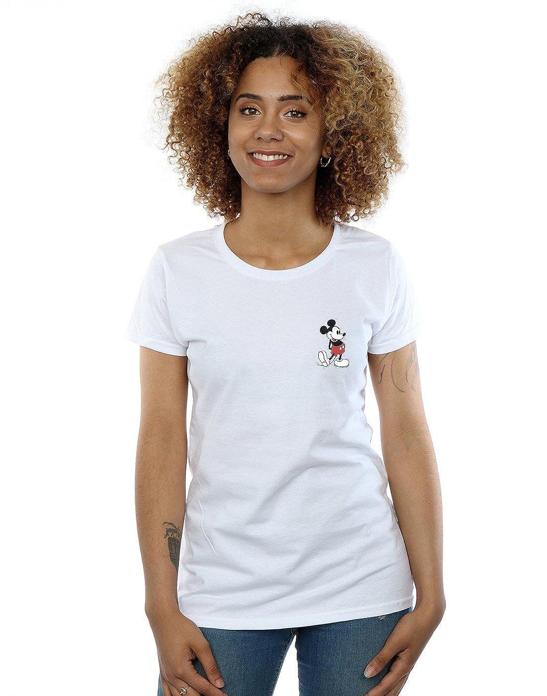 Disney Mujer Mickey Mouse Kickin Retro Pocket Camiseta: Amazon.es: Ropa y accesorios