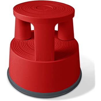 Amazon Com Casa Pura Red Kick Stool Rolling Step Stool