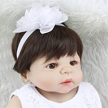 Suave 23 pulgadas 57 princesa chica bebé muñeca realista lleno de vinilo de silicona Reborn muñecas