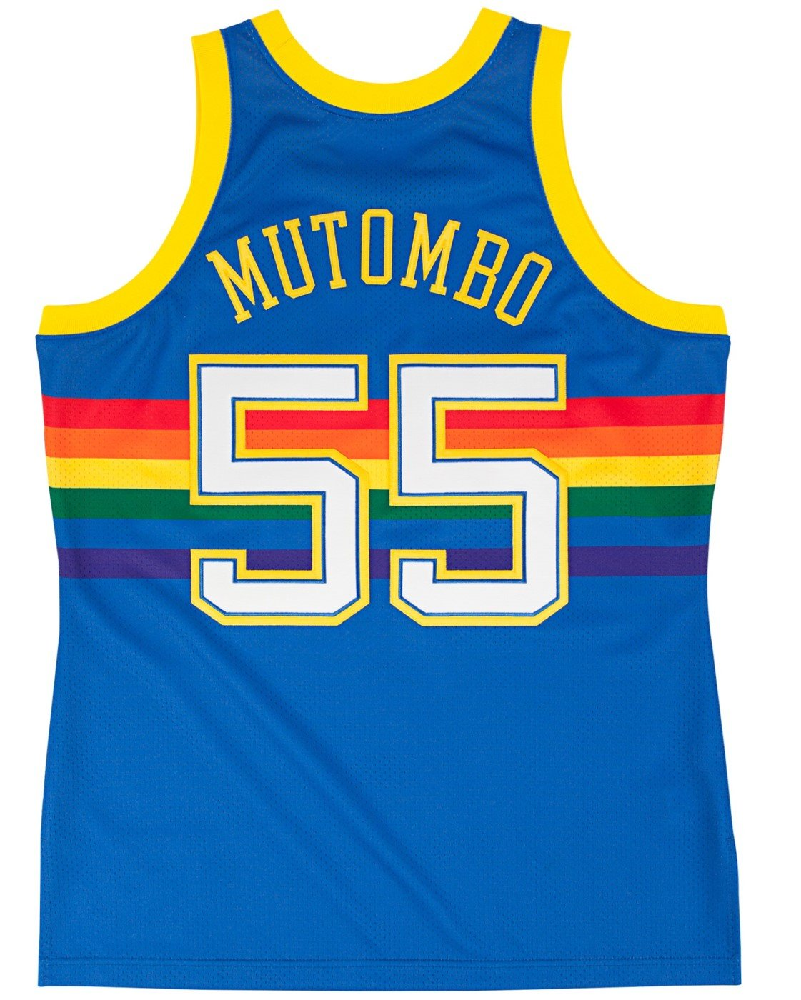best sneakers 75c76 f8aa6 Mitchell & Ness Dikembe Mutombo Denver Nuggets Authentic 1991 Blue NBA  Jersey
