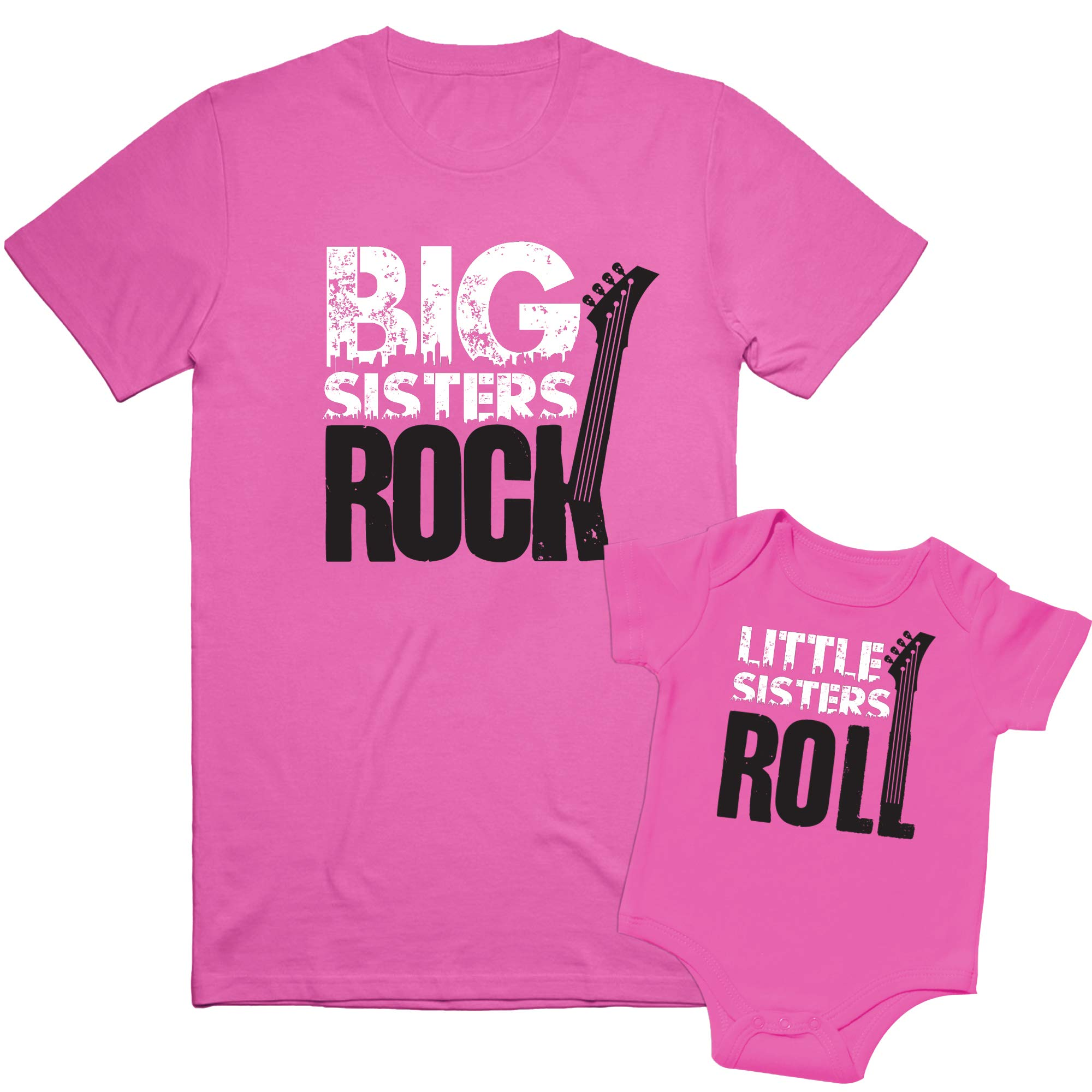 Nursery Decals and More, Matching Outfits for Siblings, Big Brother Little Brother Shirts, Rock and Roll Siblings Set
