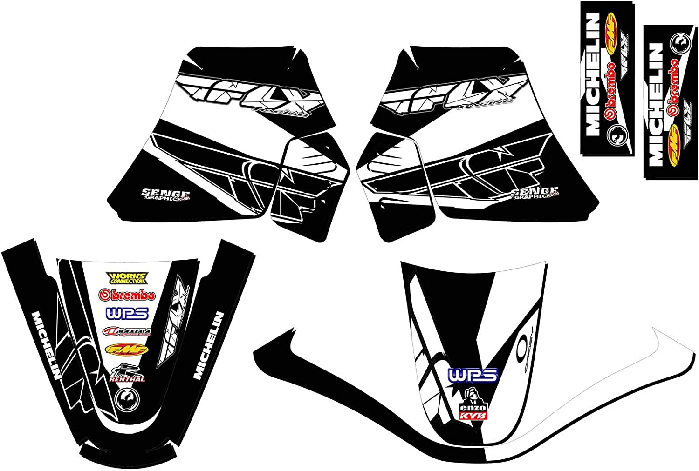Compatible with Yamaha Senge Graphics 1990-2018 PW 50 Fly Racing Black Base kit