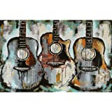 Wooden Adult Puzzle 1000 Pieces Guitar Pattern Large Size and, Good Gift for Friends