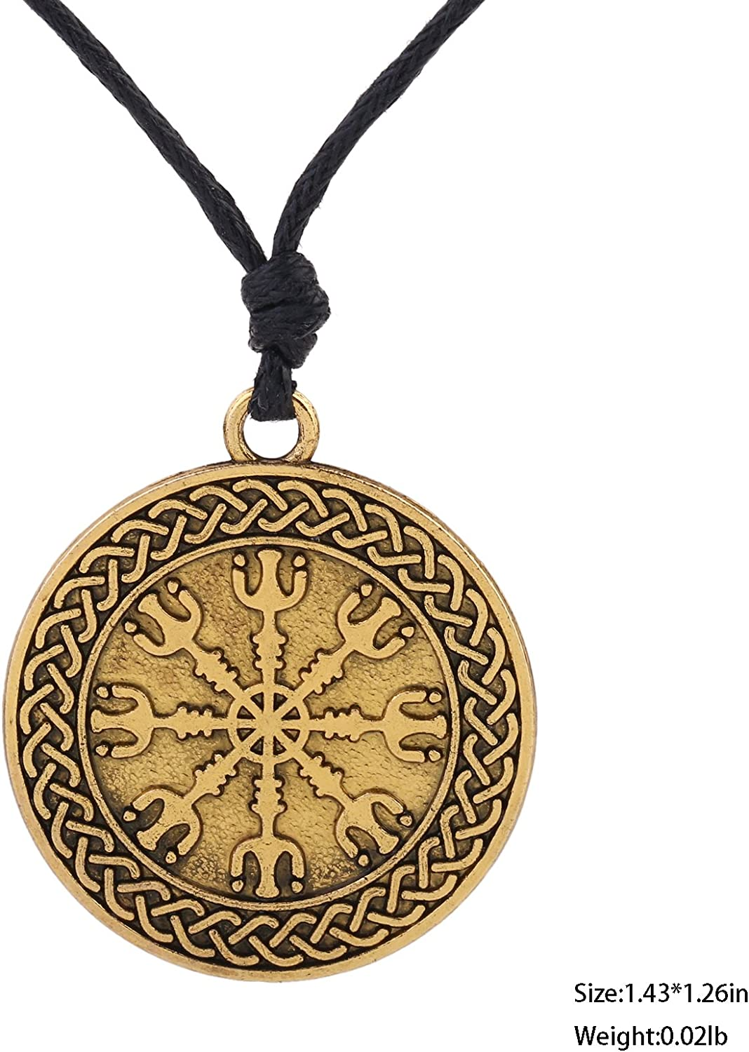 Vintage Irish Celtic Knot Pentacle for Protection Amulet Pendant Wicca Necklace