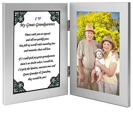Gran regalo de los abuelos Nieto - Bisabuelos poema en marco doble ...