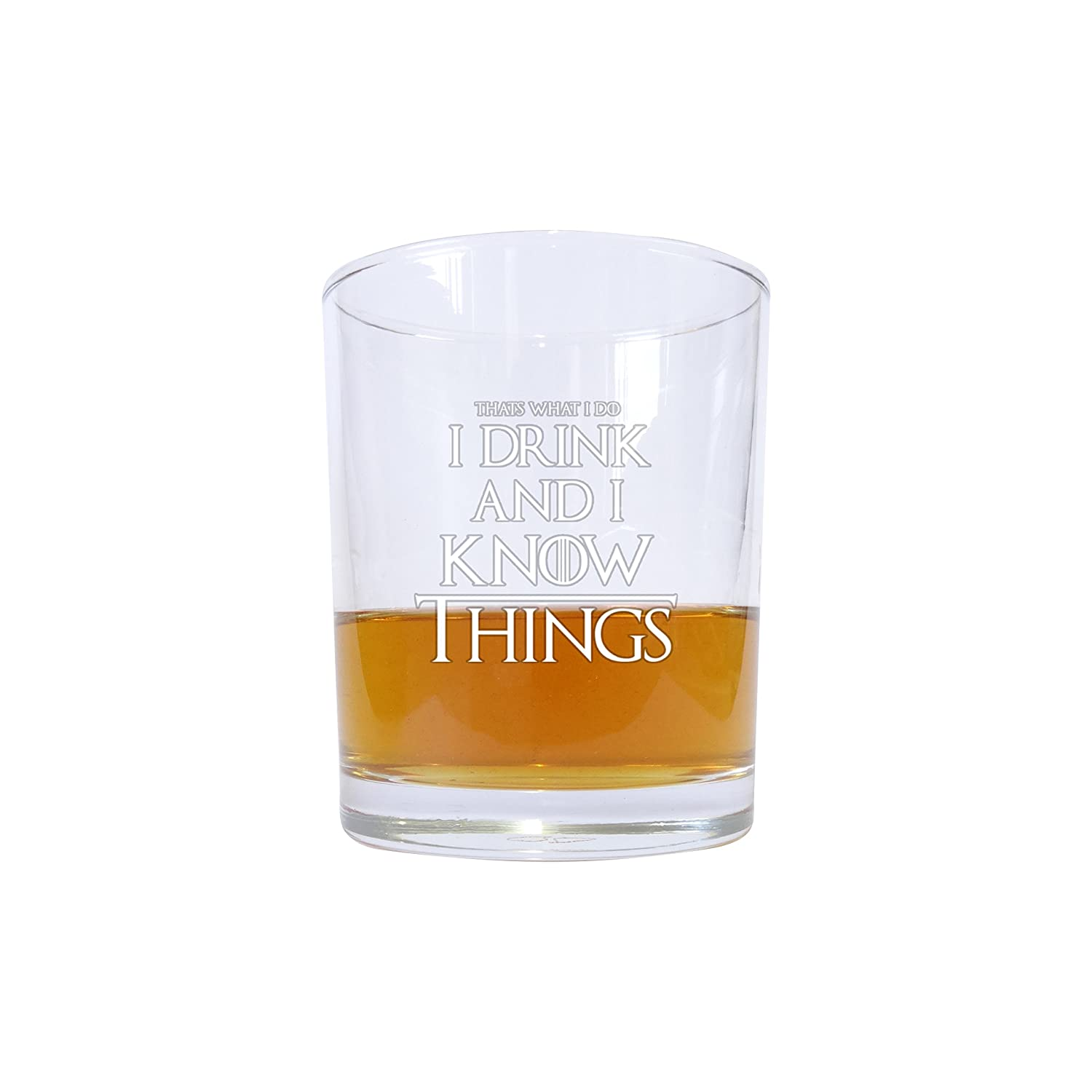 """inspiriert durch Game of Thrones Whisky-Glas /""""I Drink and I Know Things/"""" mit Zitat"""