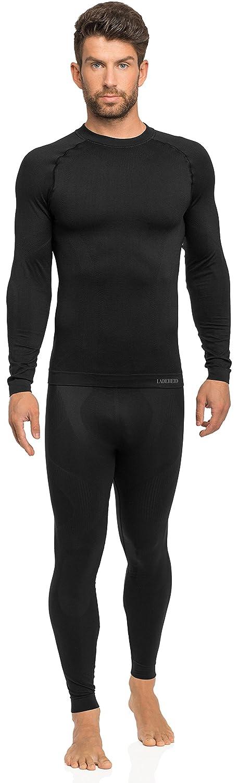 Ladeheid Herren Funktionsunterwäsche Set lange Unterhose plus langarm Shirt thermoaktiv 05 21 15