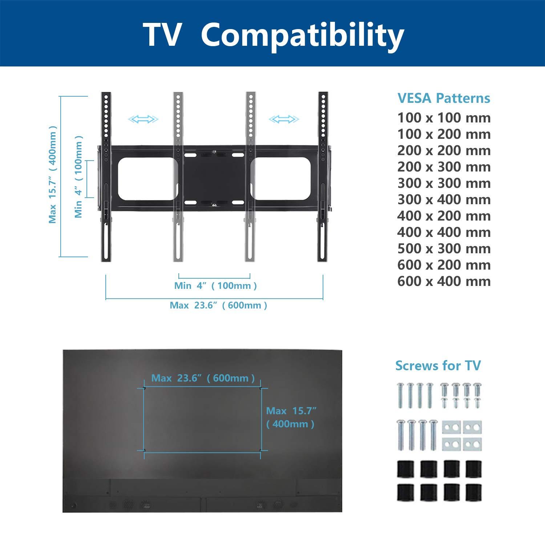 RFIVER TV Supporto Piedistallo TV con Staffa Girevole per TV LCD LED Plasma 32-65 pollici TF2001