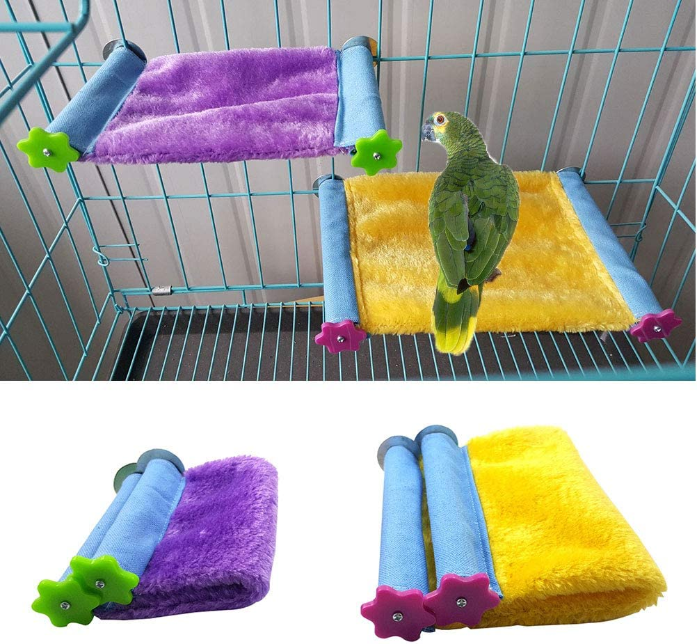 Winter Warm Bird Nest House Bed Hammock Toy for Pet Parrot Parakeet Cockatiel Conure Cockatoo African Grey Eclectus  Lovebird Budgie Finch Canary Hamster Rat Chinchilla Squirrel Cage Perch L